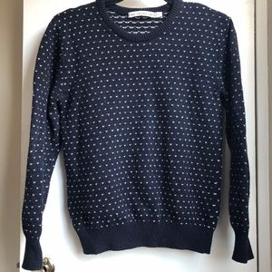 & Other Stories (M) navy heart sweater